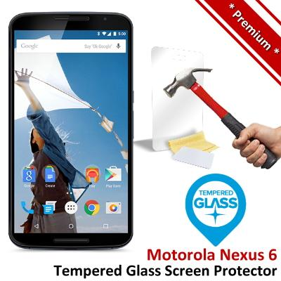 Premium Protection Motorola Nexus 6 Tempered Glass Screen Protector