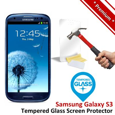 Premium Protection Samsung Galaxy S3 Tempered Glass Screen Protector