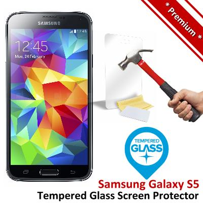 Premium Protection Samsung Galaxy S5 Tempered Glass Screen Protector