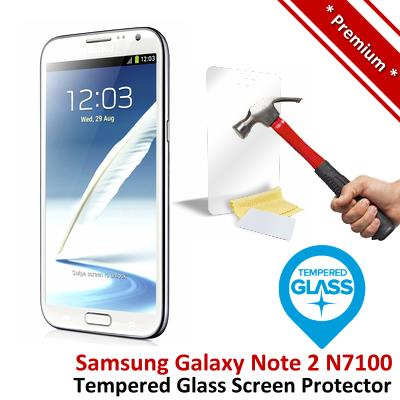 Premium Protection Samsung Note 2 Tempered Glass Screen Protector