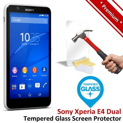 Premium Protection Sony Xperia E4 Dual Tempered Glass Screen Protector