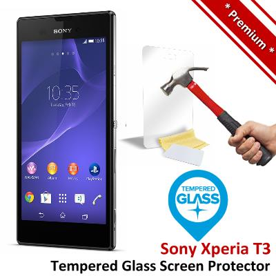 Premium Protection Sony Xperia T3 Tempered Glass Screen Protector