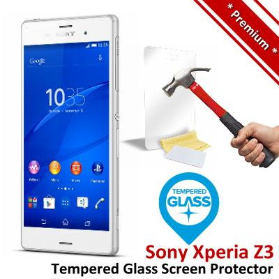 Premium Protection Sony Xperia Z3 Tempered Glass Screen Protector