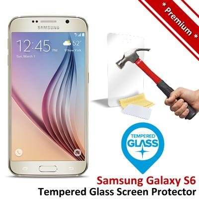 Premium Quality Samsung Galaxy S6 Tempered Glass Screen Protector