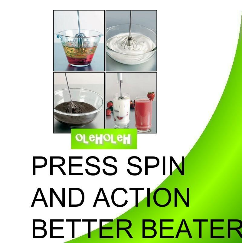 Press & Spin Action Better Beater (Set of 2)