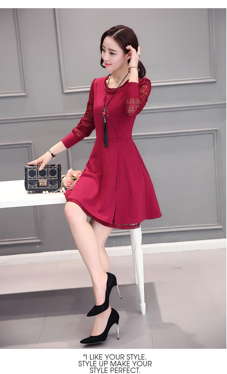 Pretty Dress Maroon-Size L