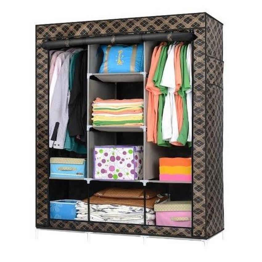 Prince King Size Multifunctional Wardrobe YG3 (Checkered Black)