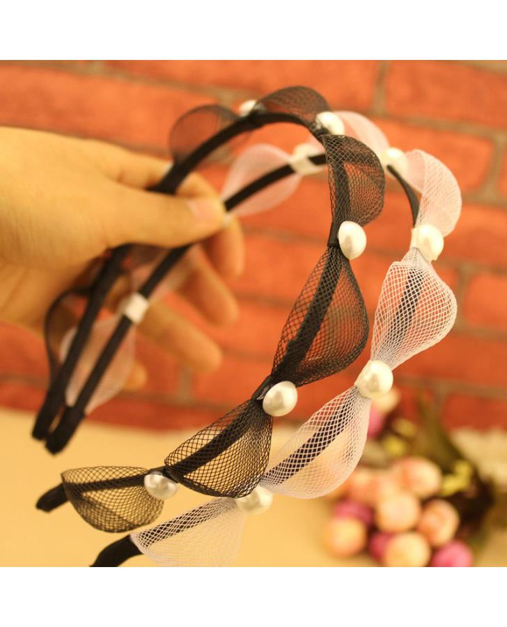 Princess Wave Pearl Hair Band