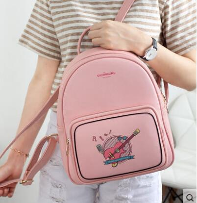 Printed backpack shoulder bag female