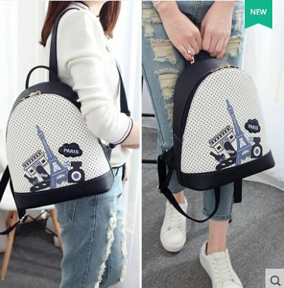 Printed shoulder bag backpack
