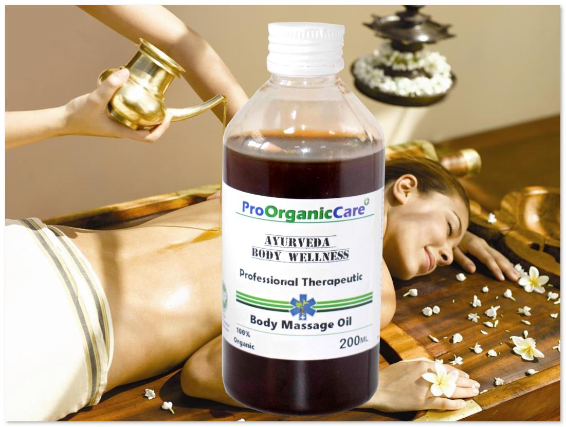 Pro Organic Care Body Massage Oil Herbal Stress Relief  200ml #NU-DL