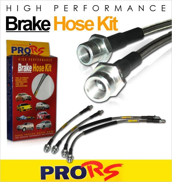 PRO-RS Front & Rear Steel Braided Brake Hose: Honda Civic FD 2.0 2006