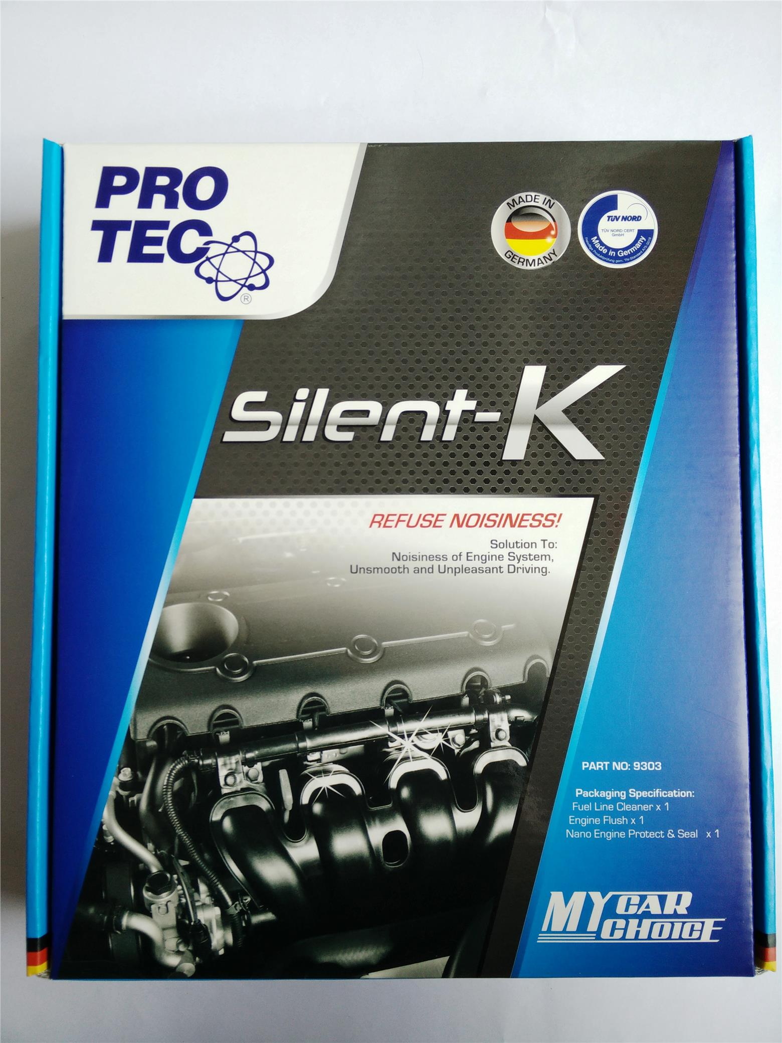 Pro Tec Silent-K Reduce Engine noise,smoothen engine.Made In Germany