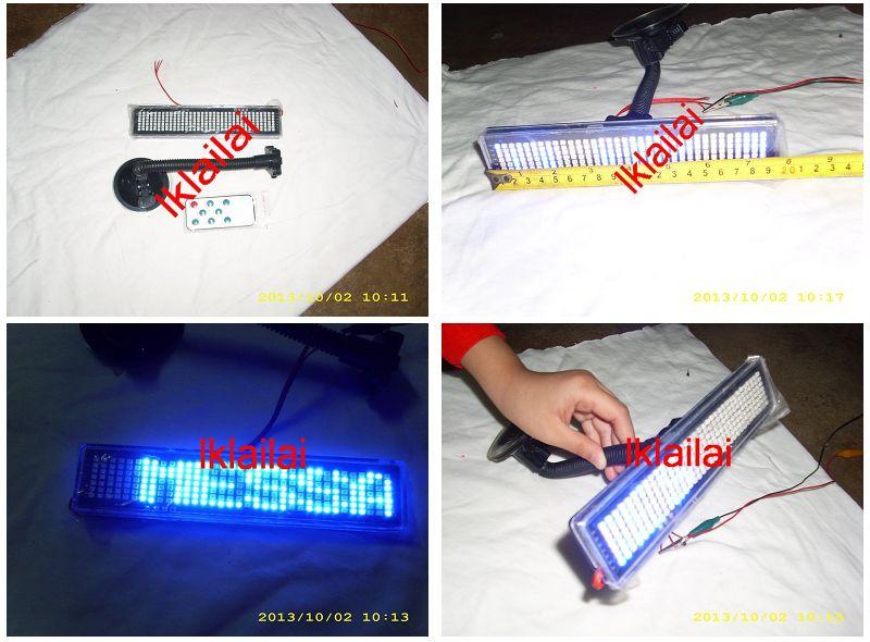 Programmable LED Message Display with Remote Control 4cm x 19.5cm