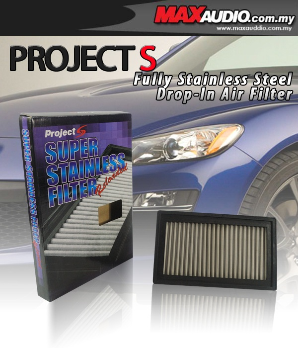 PROJECT-S Stainless Steel Air Filter: ALL SUBARU