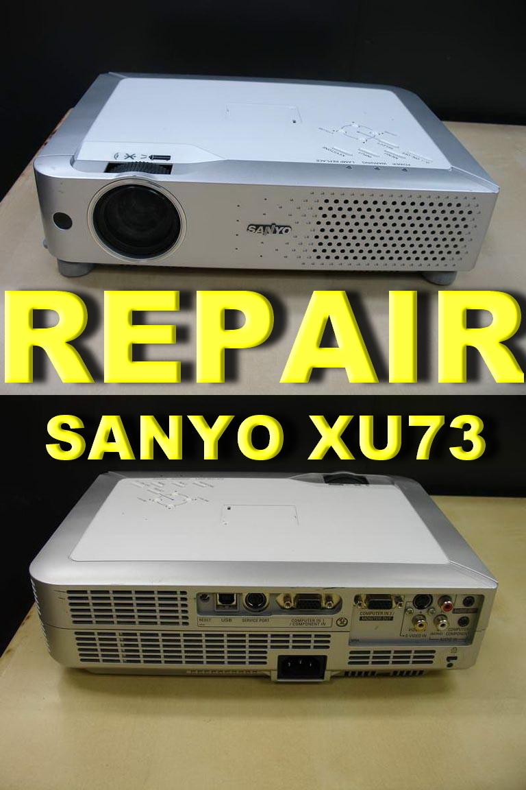 ( PROJECTOR REPAIR )SANYO PLC-XU73 PROJECTOR ,AUTO OFF,CHANGE LAMP