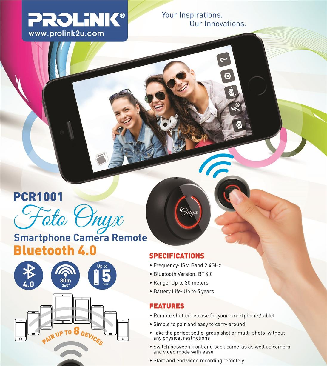 Prolink PCR1001 IOS Android Bluetooth Camera Remote Controller