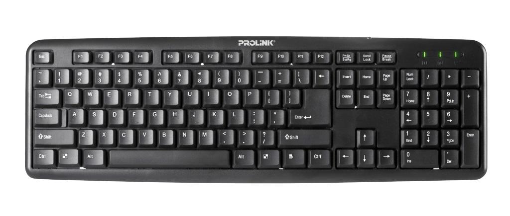 PROLiNK PKCS-1005 High Quality Classic Wired Keyboard