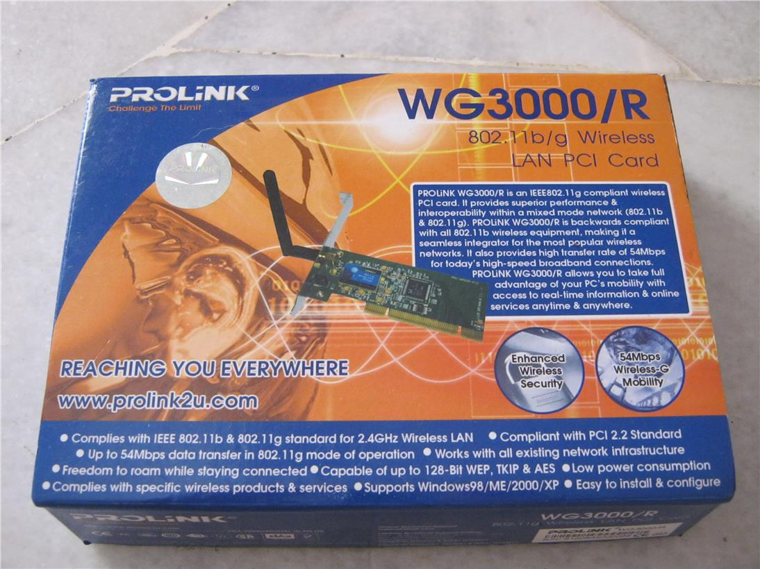 Prolink WG3000/R Wireless LAN PCI Card