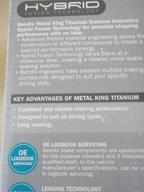 [PROMO] BENDIX METAL KING TITANIUM FRONT PAD For TOYOTA AVANZA, RUSH