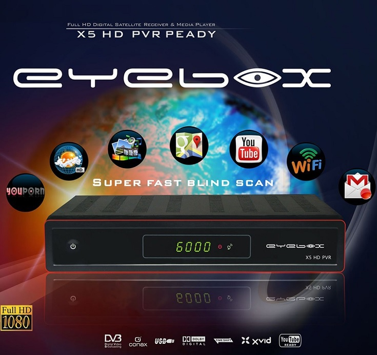 PROMO EYEBOX X5 OPENBOX DREAMBOX SKYBOX SATELLITE + 6 MONTHS 3735