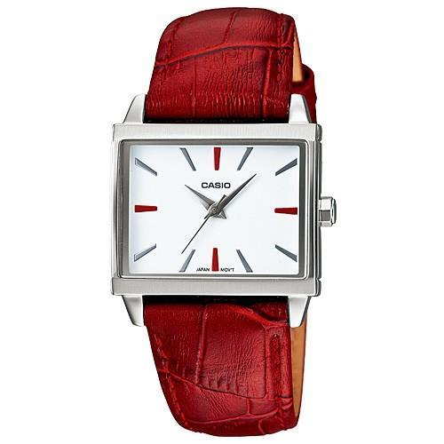 PROMO Sale CASIO LTP-1334L-4A  Analog rectangular leather strap