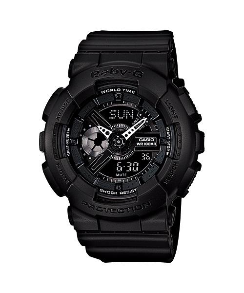 PROMO Sales BABY-G BA-110BC-1A Multi-Dimensional Resin Strap Black