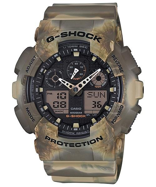 PROMO Sales G-Shock GA-100MM-5A Marble Camouflage