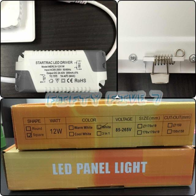 PROMOTION!! 12W LED DOWNLIGHT (SQUARE) - HIGH QUALITY