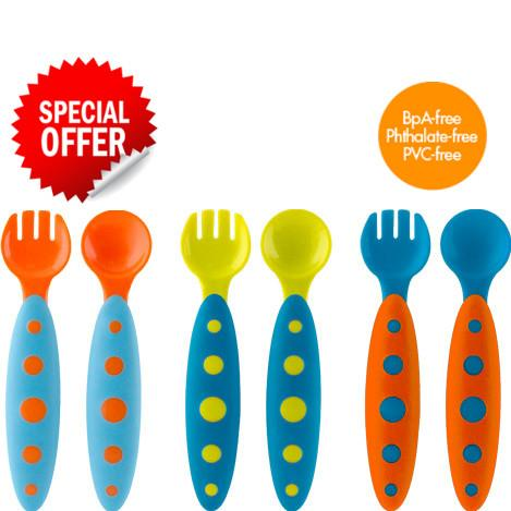 *PROMOTION* BOON Modware Toddler Utensils (Pack of 3) BPA-Free