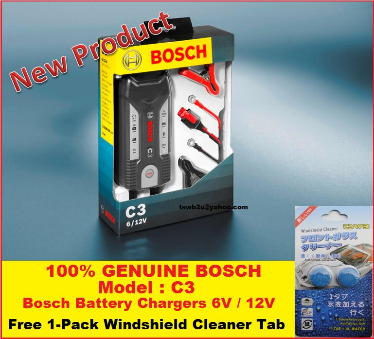 Promotion (Genuine) Bosch (C3) 6V & 12V Car Battery Charger