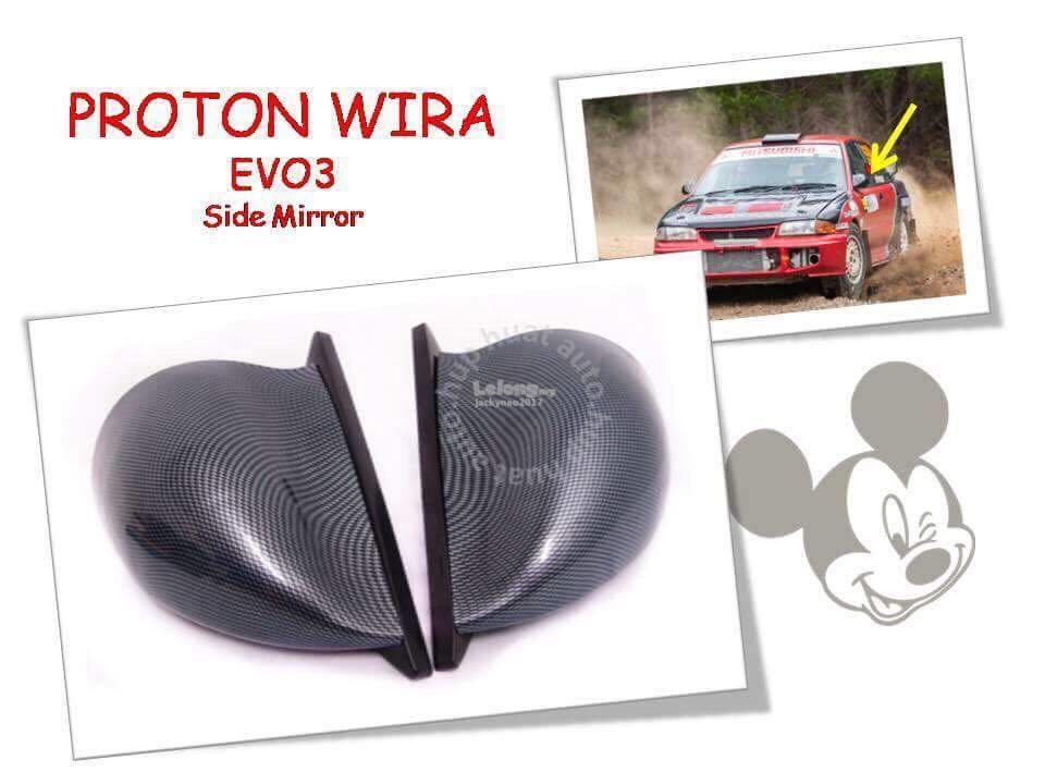 Pronton wira evo3 side mirror