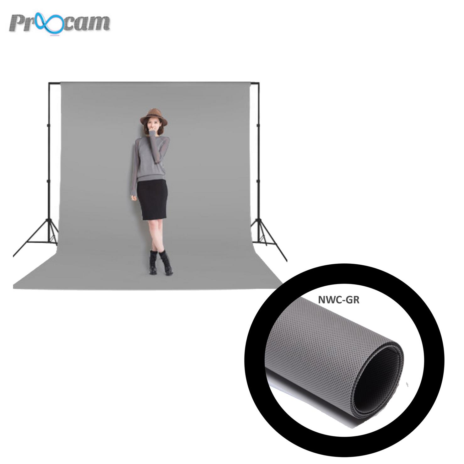 Proocam NWC-GR Non woven cloth Backdrop background -Grey(3X6meter)