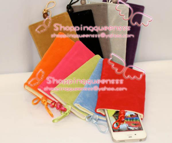 Protective Soft Sleeve Fabric Bag Pouch Case Cover For Iphone Android