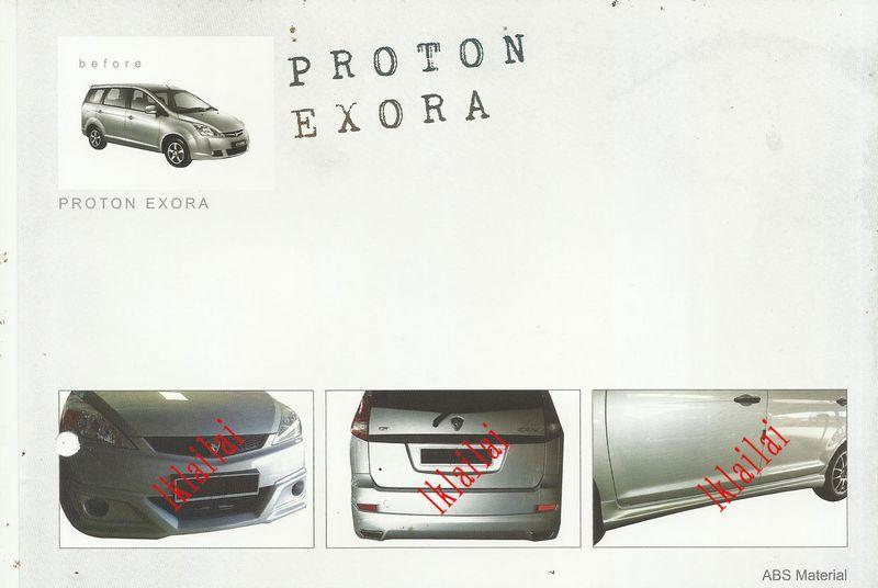 Proton Exora '09-11 GB Style Full Set Body Kit ABS Skirting + Spoiler