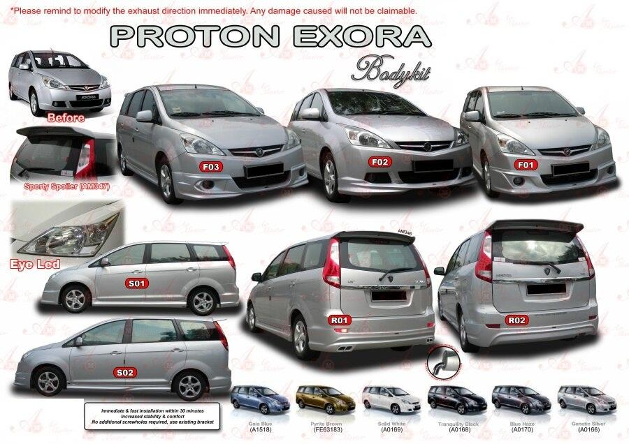 PROTON EXORA 2009 BODY KITS WITH PAINTING (Johor, end time 4/16 ...