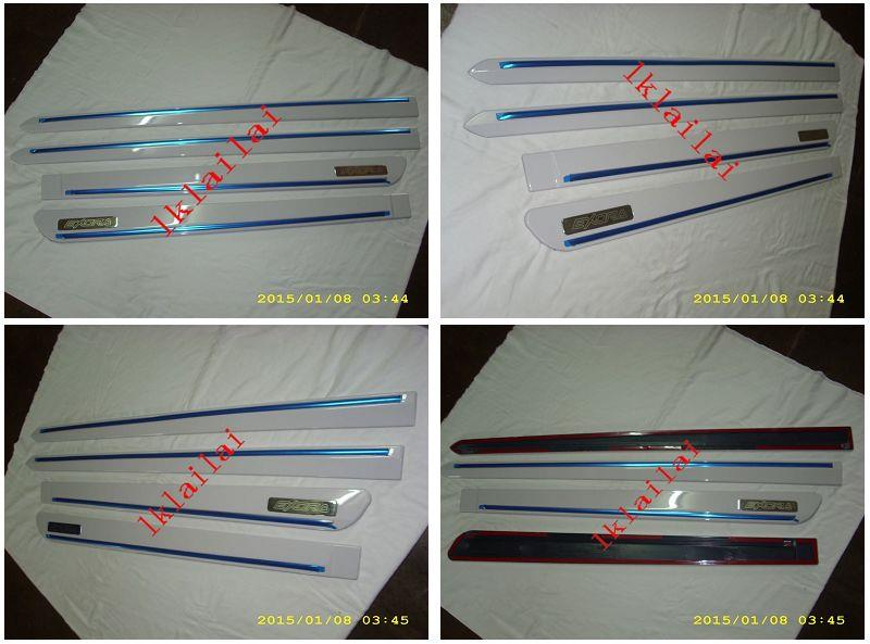 Proton Exora Door Side Moulding With Chrome Lining Painted
