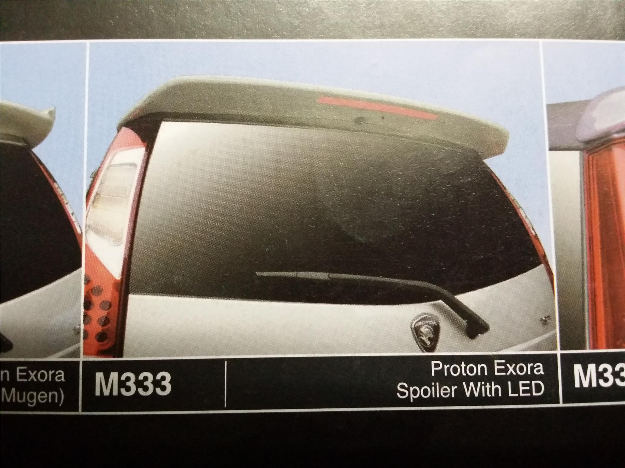 PROTON EXORA SPOILER WITH LED