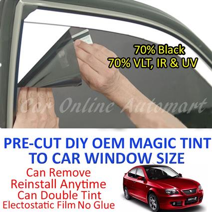 Proton Gen 2 Magic Tinted Solar Window ( 4 Windows ) 70% Black