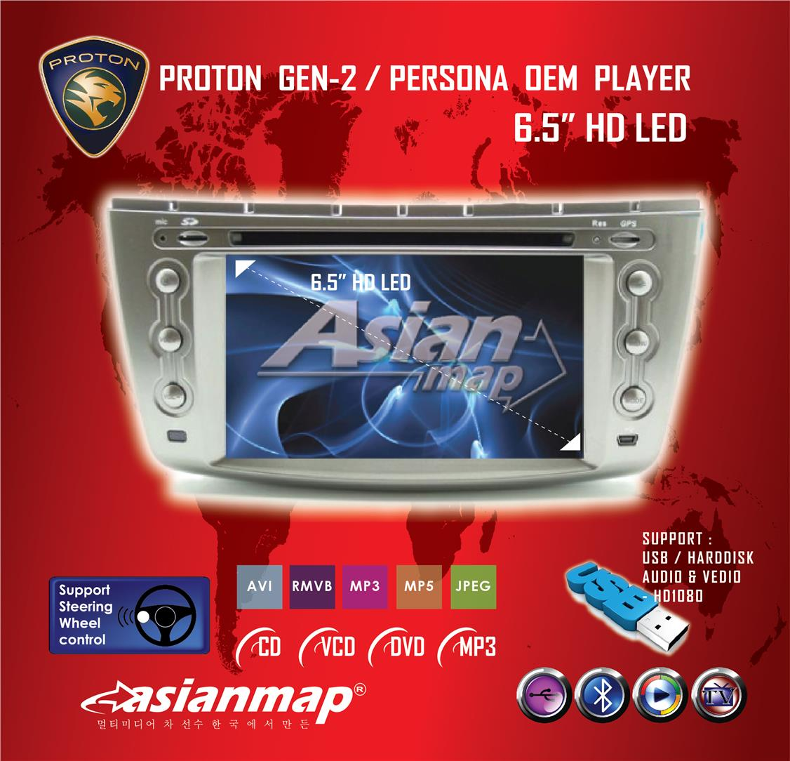 Proton Gen2 Persona 6 5 Win8 Oem Dvd Gps Player