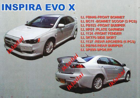Proton Inspira EVO X Full Set Body Kit
