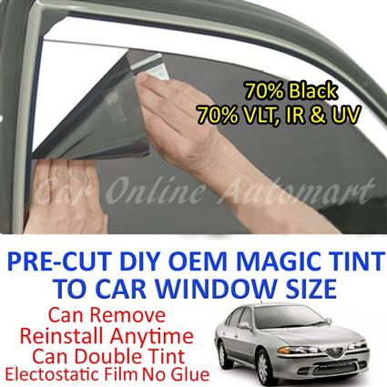 Proton Perdana Magic Tinted Solar Window ( 4 Windows ) 70% Black