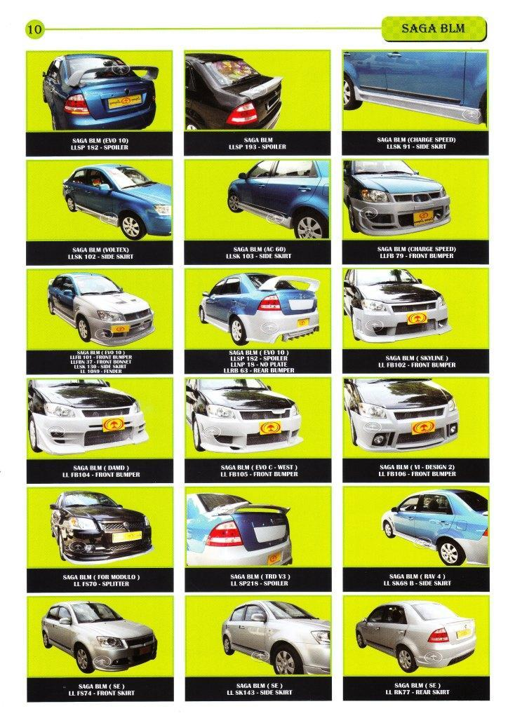 Proton Saga BLM - Body Kits [Please see the Price List Below]