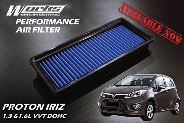 PROTON SAGA BLM SE FL FLX 2008-15 WORKS ENGINEERING Drop In Air Filter