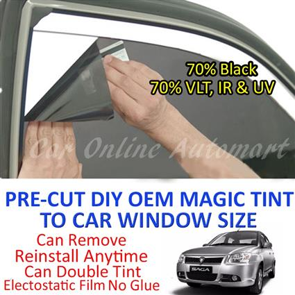 Proton Saga FLX Magic Tinted Solar Window ( 4 Windows ) 70% Black