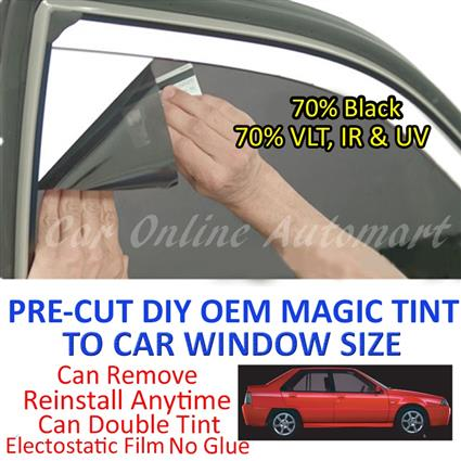 Proton Saga Magic Tinted Solar Window ( 4 Windows ) 70% Black