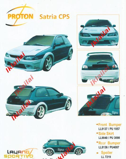Proton Satria CPS Style Full Set Body Kit [Bumper/Skirt/Spoiler]