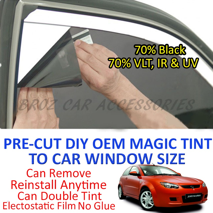 Proton Satria Neo Magic Tinted Solar Window (4 Window & Rear) 70%Black