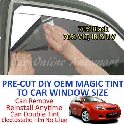 Proton Satria Neo Magic Tinted Solar Window ( 4 Windows ) 70% Black