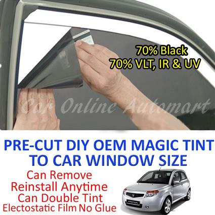 Proton Savvy Magic Tinted Solar Window ( 4 Windows ) 70% Black